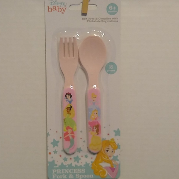 Disney Princess Baby Fork and Spoon. NWT